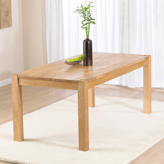 Milan 150cm Oak Dining Table Only