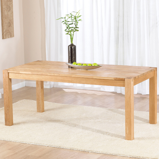 Milan 180cm Oak Dining Table Only