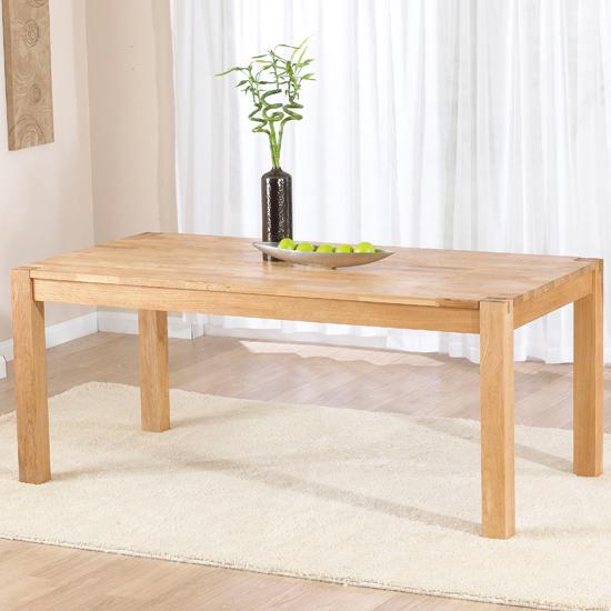 milan 180cm oak dining table only 14097 furniture in. Black Bedroom Furniture Sets. Home Design Ideas