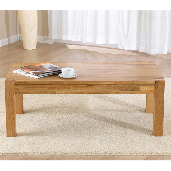 Milan Oiled Oak Coffee Table