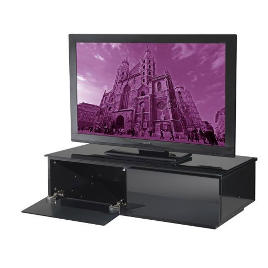 Vienna High Gloss Black Low Board TV Stand
