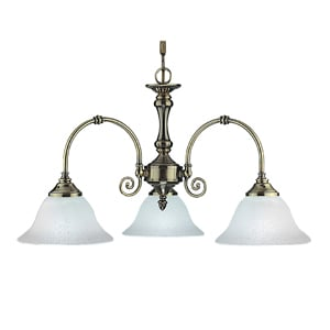 VIRGINIA ANTIQUE BRASS 3 LIGHT CEILING LIGHT