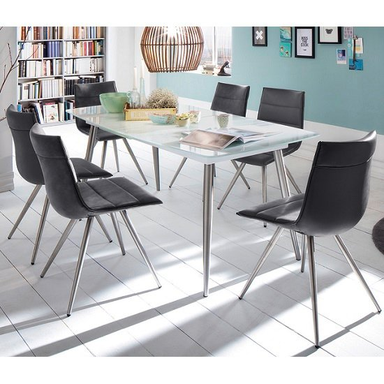 Belton Extendable Glass Dining Table In White_3