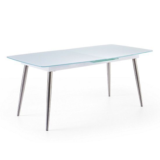 Belton Extendable Glass Dining Table In White_1