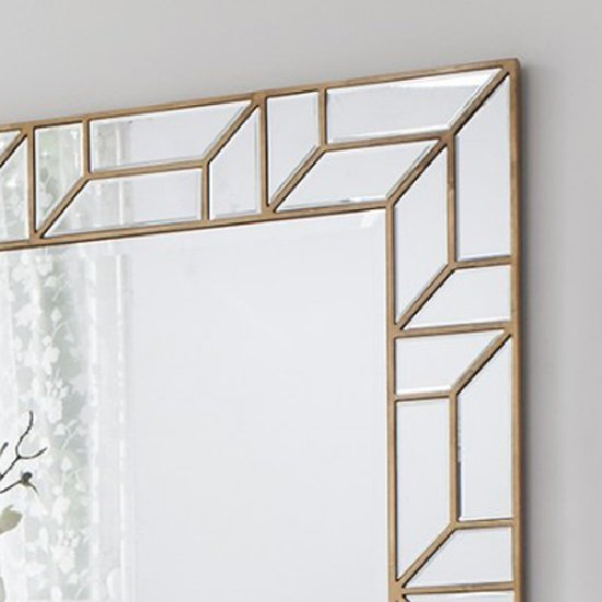 Dresden Decorative Wall Mirror Rectangular In Painted Gold_2