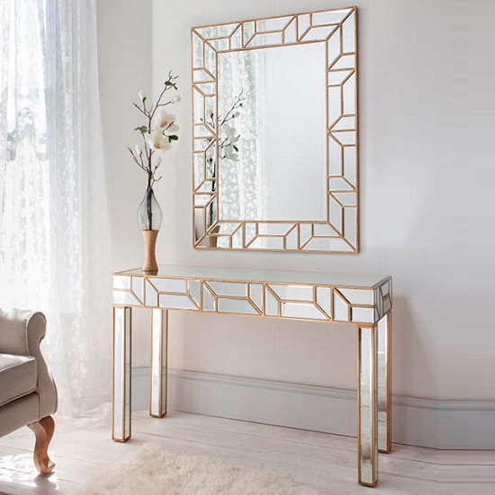 Dresden Decorative Wall Mirror Rectangular In Painted Gold_3