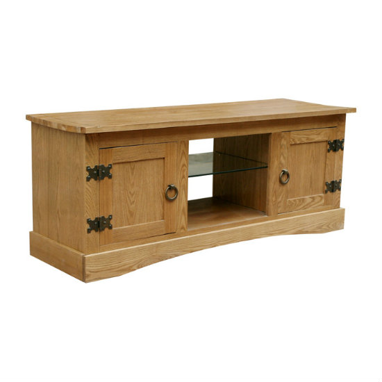 Vermont Flat Screen TV Unit With Glass Shelf