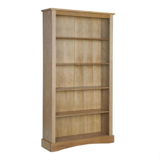 Vermont Wooden Tall Bookcase In Pine With 4 Shelves