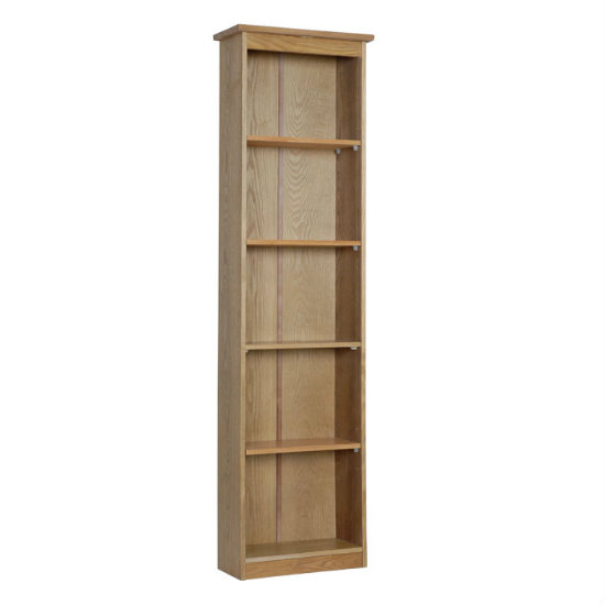 Vermont Wooden Tall Narrow Bookcase With 4 Shelf