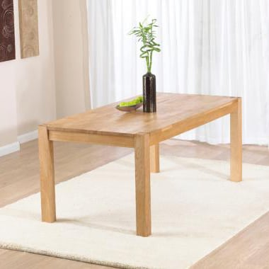 Milan 120cm Oak Dining Table Only