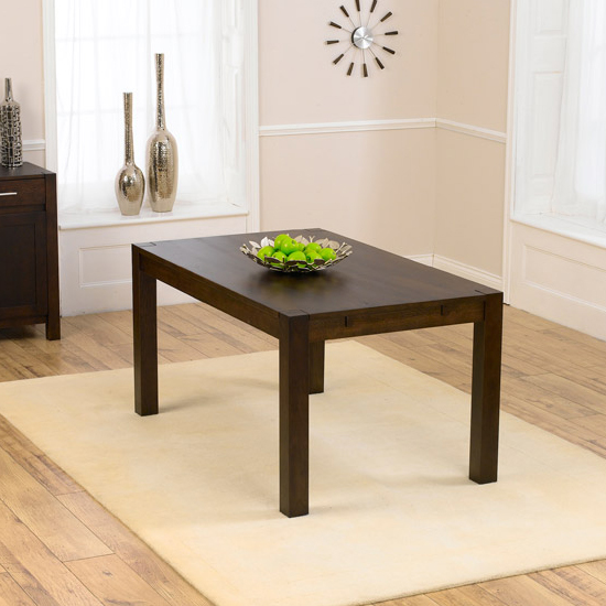 Milan 150cm Dark Oak Dining Table Only