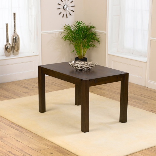 Milan 120cm Dark Oak Dining Table Only