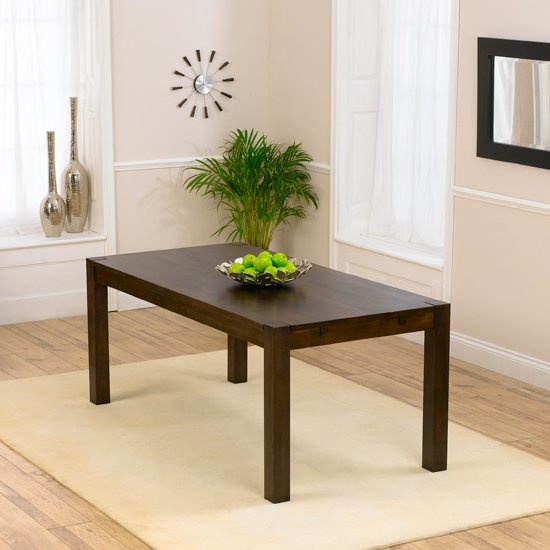 Milan 180cm Dark Oak Dining Table Only