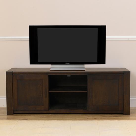 tv unit dark wood. Black Bedroom Furniture Sets. Home Design Ideas
