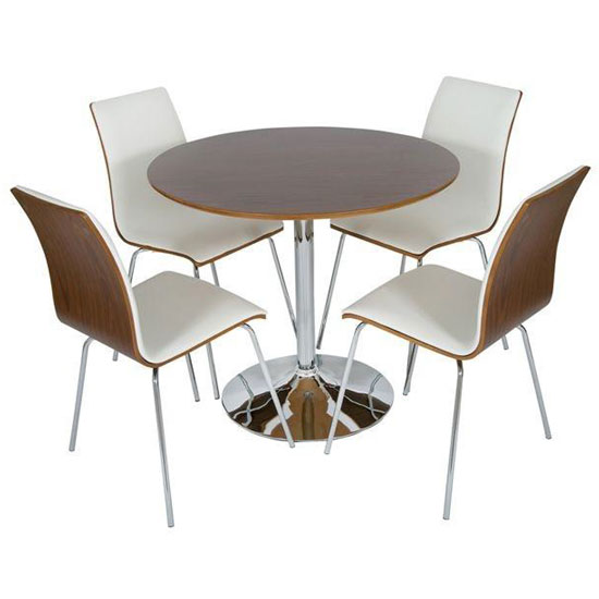 Verona Round  Walnut Dset50WH%20(2) - Choosing Suggestions On Contemporary Bistro Furniture