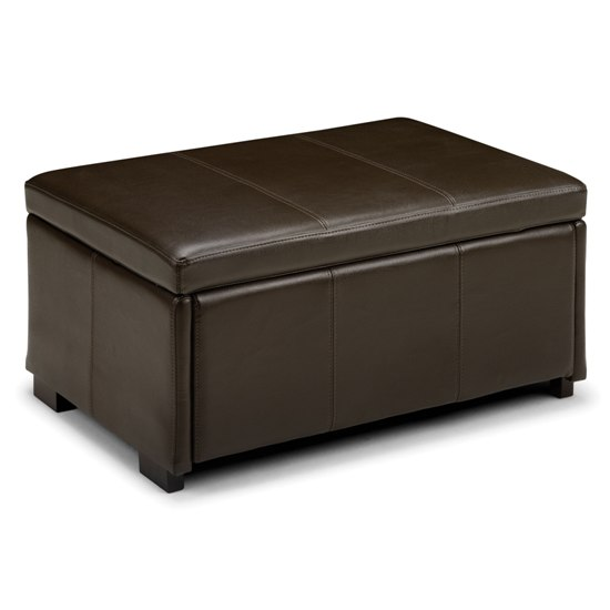 vienna ottoman storage bench in chocolate brown 5112