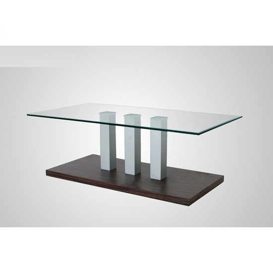 Villa Clear Glass Coffee Table