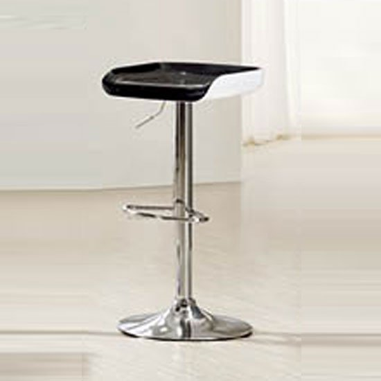 Viva Black and White Bar Stool