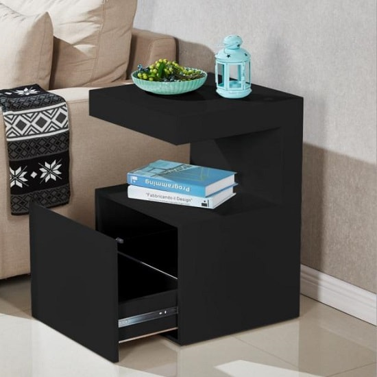 Voltaire Contemporary Side Table In Black High Gloss_3