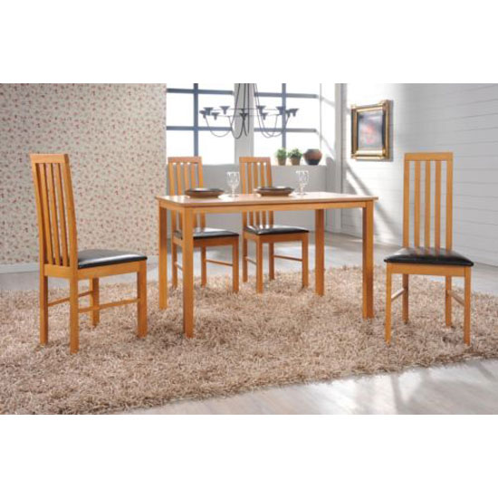 New Wellington Wooden Dining Table With 4 Chairs