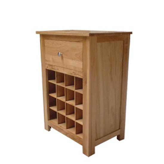 Waverley Solid Oak Wine Rack Table