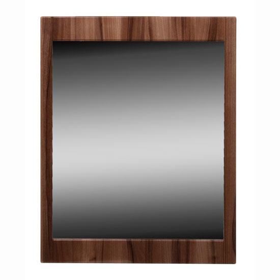Torino Wall Mirror in High Gloss Walnut