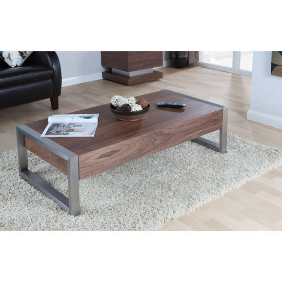Walnut Coffee Table JF629CT - Coffee Tables For A Narrow Room: Possible Design Patterns