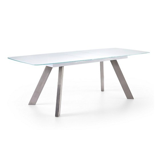Walker Extendable Glass Dining Table In White_2