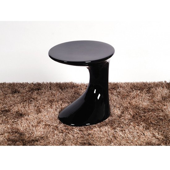 Wilcox Lamp Table In Black High Gloss