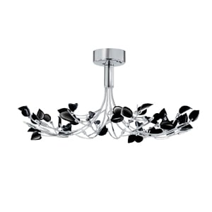Wisteria 10 Light Ceiling Light In Black And Chrome