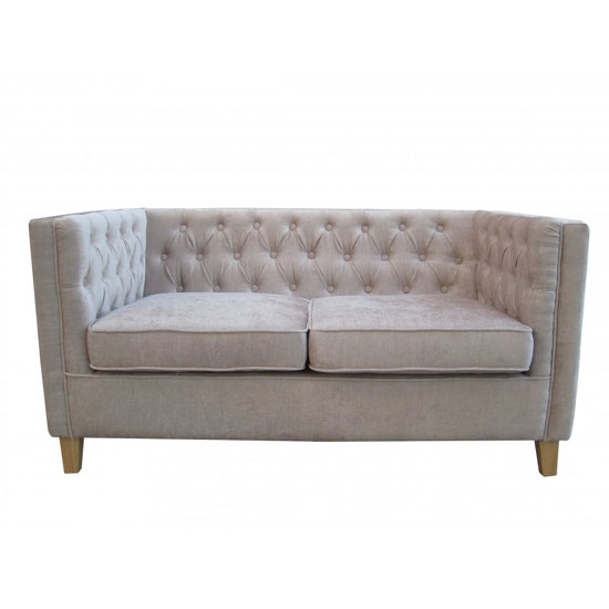 Yorick Contemporary Mink Finish Chenille Style Fabric Sofa