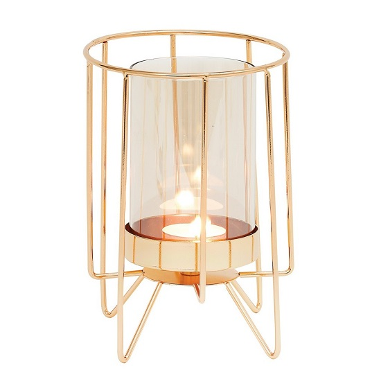 Jayda Large Candle Holder In Dulled Gold Finish_1