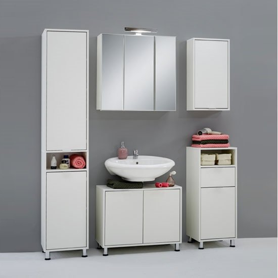 Zamora Bathroom Furniture Collection in White Finish
