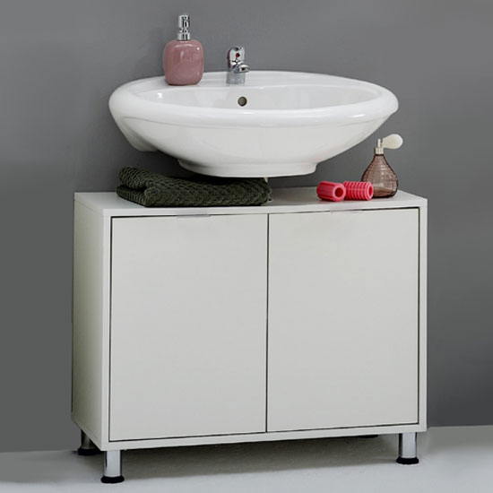 Zamora 4 White Modern Bathroom Vanity Without Wash Basin