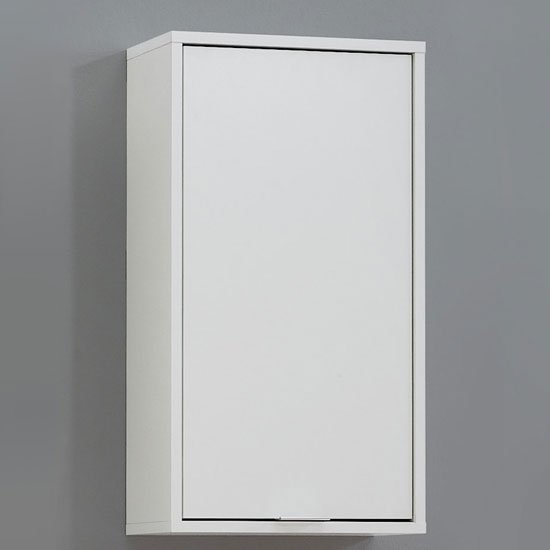 Zamora 5 Bathroom Wall Cabinet In White Finish