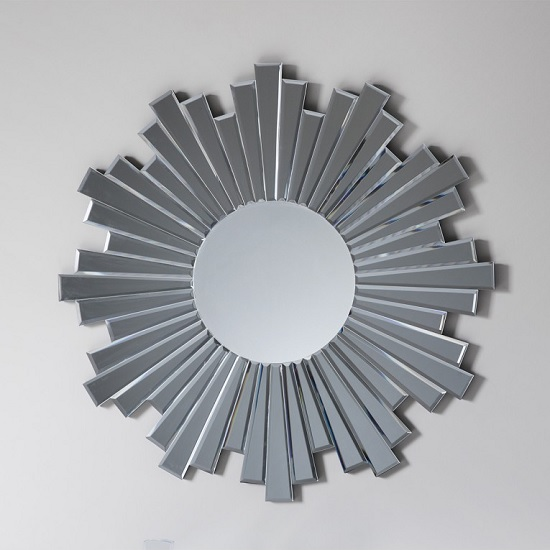Damien Round Wall Mirror With Starburst Design