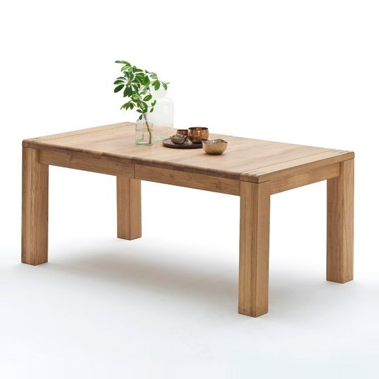Abbot Wooden Extendable Dining Table Large In Bianco Oak