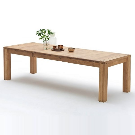Abbot Wooden Extendable Dining Table In Bianco Oak_2