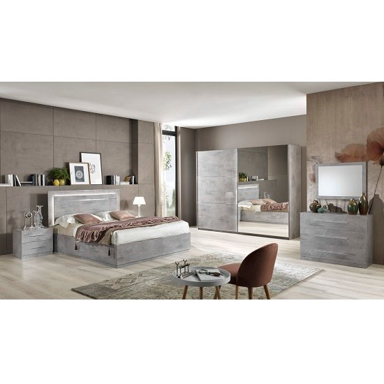 Abby Chest Of Drawers In Grey Marble Effect Gloss And 3 Drawers_2
