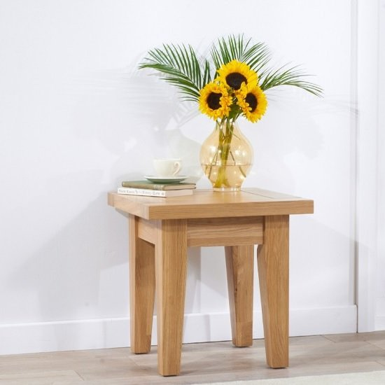 Abelia Wooden End Table Square In Oak
