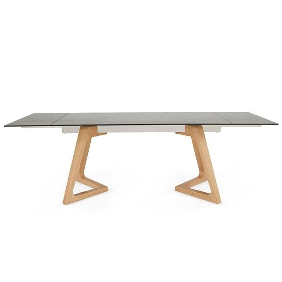 Abena Extendable Glass Dining Table In Smoked With Oak Legs : abenasmokedglassextendablediningtableoak1 from www.furnitureinfashion.net size 550 x 550 jpeg 34kB