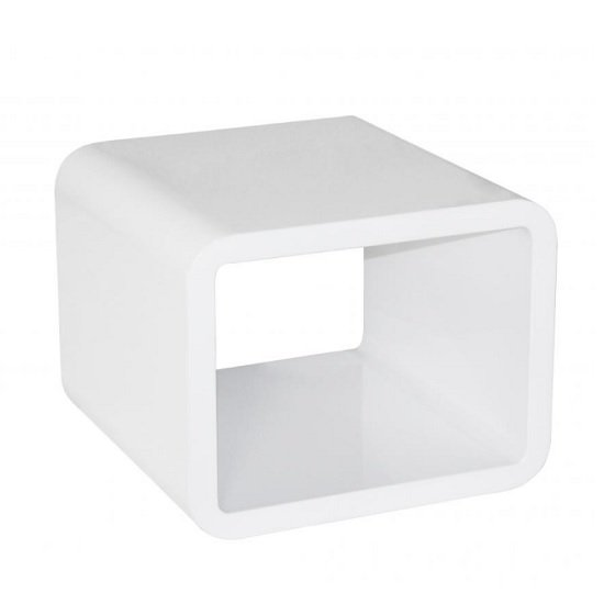 Abilio Modern Lamp Table Square In White High Gloss