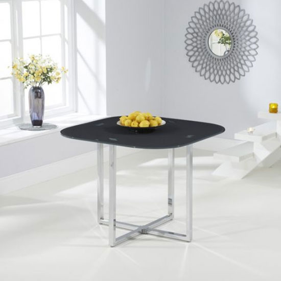 Abingdon Glass Stowaway Dining Table In Grey