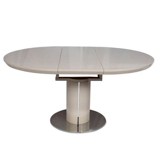Abramo Extendable Dining Table In Cream High Gloss_4