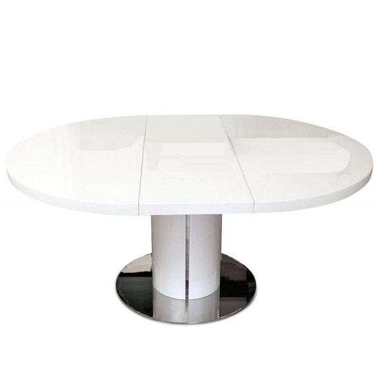Abramo Extendable Dining Table In White High Gloss_2