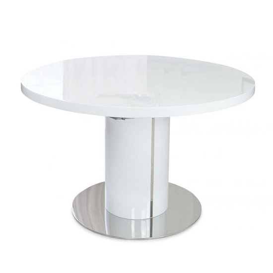 Abramo Extendable Dining Table In White High Gloss_1