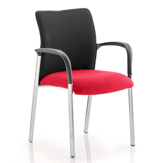 Academy Black Back Visitor Chair In Bergamot Cherry With Arms