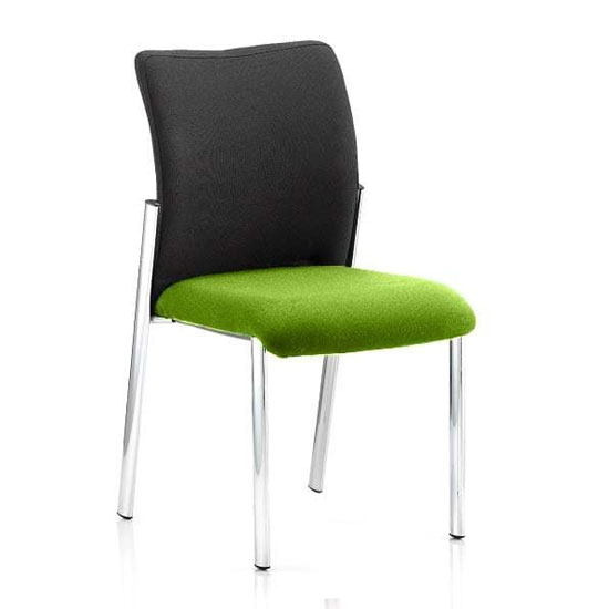 Academy Black Back Visitor Chair In Myrrh Green No Arms