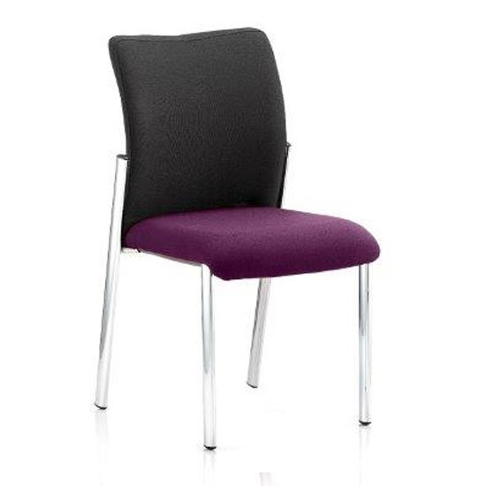 Academy Black Back Visitor Chair In Tansy Purple No Arms