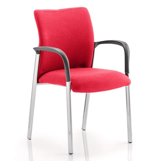 Academy Fabric Back Visitor Chair In Bergamot Cherry With Arms